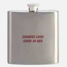 ZOMBIES LOOK GOOD IN RED Flask