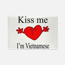 Kiss Me I'm Vietnamese Rectangle Magnet