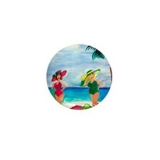 Beach Babes Mini Button
