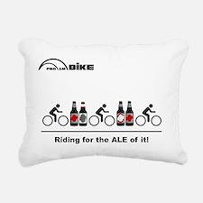 Cycling T Shirt - Riding Rectangular Canvas Pillow