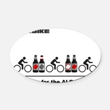 Cycling T Shirt - Riding for the A Oval Car Magnet