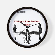 Cycling T Shirt - Life Behind Bars Wall Clock