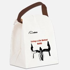 Cycling T Shirt - Life Behind Bar Canvas Lunch Bag