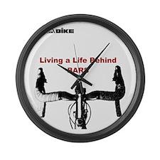 Cycling T Shirt - Life Behind Bar Large Wall Clock