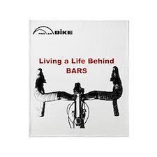 Cycling T Shirt - Life Behind Bars Throw Blanket