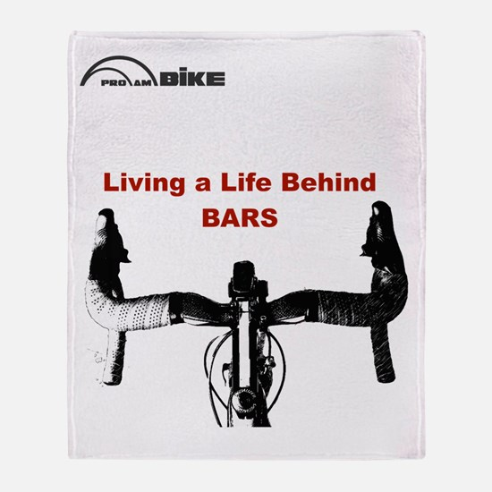 Cycling T Shirt - Life Behind Bars Throw Blanket