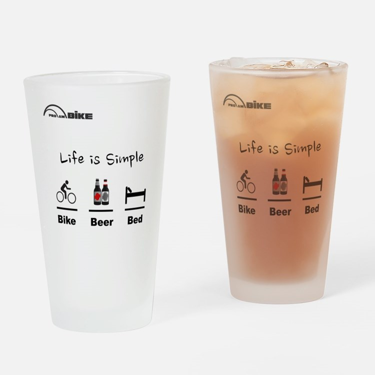 Cycling T Shirt - Life is Simple -  Drinking Glass