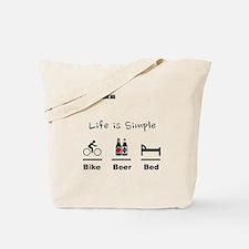 Cycling T Shirt - Life is Simple - Bike - Tote Bag