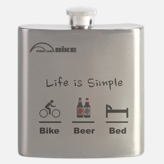 Cycling T Shirt - Life is Simple - Bike - Be Flask