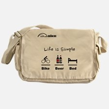 Cycling T Shirt - Life is Simple - B Messenger Bag