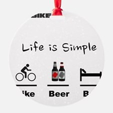 Cycling T Shirt - Life is Simple -  Ornament