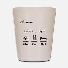 Cycling T Shirt - Life is Simple - Bike Shot Glass