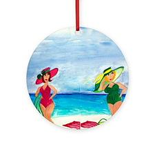 Beach Babes Round Ornament