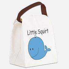 Whale_TShirt_Blue Canvas Lunch Bag