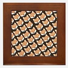 shibaflipflops Framed Tile