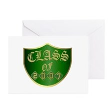 Class Of 2007 Green Greeting Cards (Pk of 10)