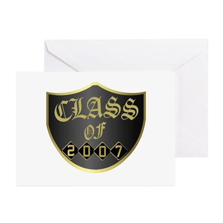 Class Of 2007 Black Greeting Cards (Pk of 10)