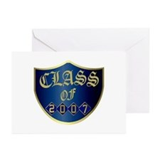 Class Of 2007 Blue Greeting Cards (Pk of 10)