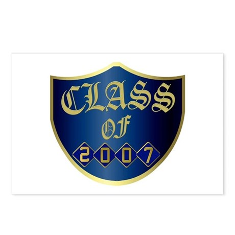 Class Of 2007 In Blue Postcards (Package of 8)