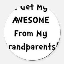 Awesome From Grandparents Black Round Car Magnet