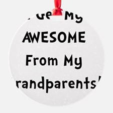 Awesome From Grandparents Black Ornament