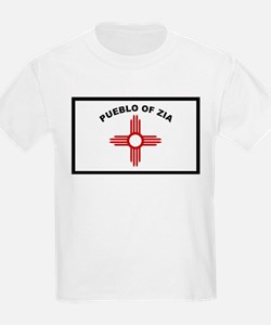 Pueblo of Zia Flag Kids T-Shirt