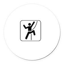 Do Rock Climber White Round Car Magnet