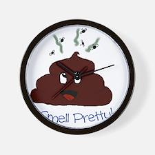 Happy Poopie Wall Clock