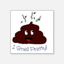 "Happy Poopie Square Sticker 3"" x 3"""