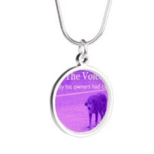 Will you be their voice? Silver Round Necklace