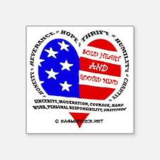 """SOLD Heart design EV copy Square Sticker 3"""" x 3"""""""