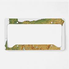 oregon-map License Plate Holder