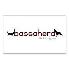 Bassaherd Rectangle Decal