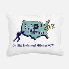 The Big Push Logo 2012 Rectangular Canvas Pillow