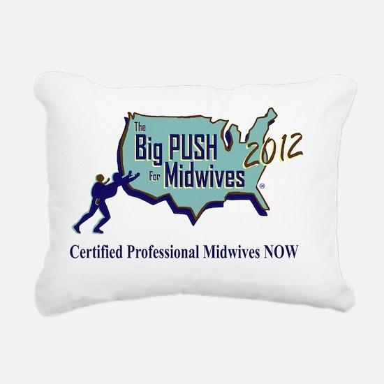 The Big Push Logo 2012 Rectangular Canvas Pillow