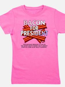 vcb-bacon-for-president-2012-w Girl's Tee