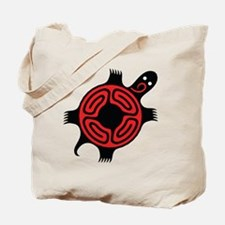 TurtleRedBlackangle Tote Bag