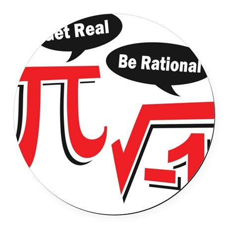 getrealberationalw Round Car Magnet
