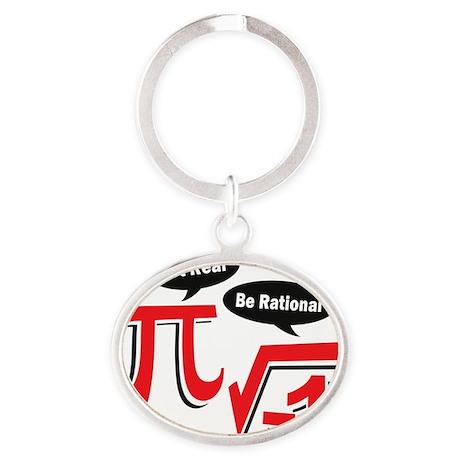 getrealberationalw Oval Keychain