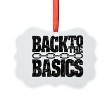 Back2Basics 10x10 Shirt Black Ornament