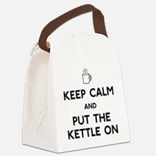 FIN-keep-calm-kettle-on-CROP Canvas Lunch Bag