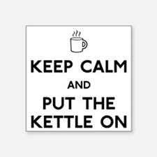 "FIN-keep-calm-kettle-on-CRO Square Sticker 3"" x 3"""