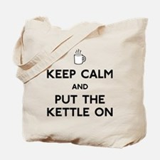 FIN-keep-calm-kettle-on-CROP Tote Bag
