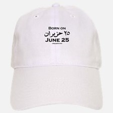 June 25 Birthday Arabic Baseball Baseball Cap
