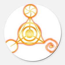 Tetrahedron Crop-Circle Round Car Magnet