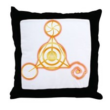 Tetrahedron Crop-Circle Throw Pillow