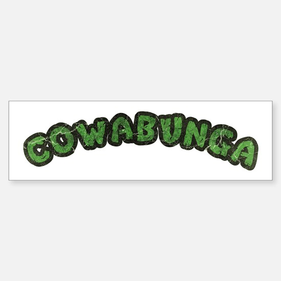 Cowabunga | 80s Turtle Shell Design Bumper Bumper Bumper Sticker
