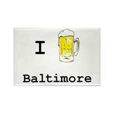 Baltimore Rectangle Magnet (10 pack)