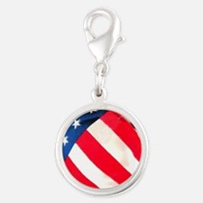Flags mousepad Silver Round Charm