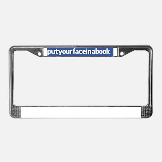 facebook bumper License Plate Frame